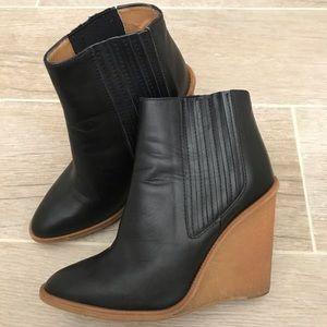 Zara leather booties!!